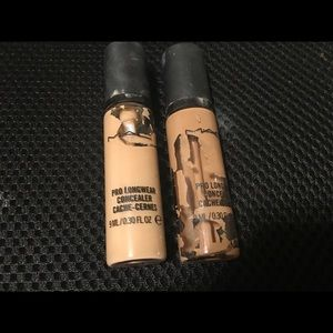 MAC Pro Longwear Concealer in shade NC35 and NC20